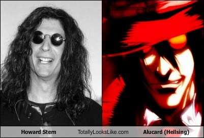 howard stern,anime,totally looks like,hellsing,funny