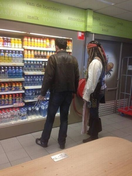 Jack Sparrow and Wolverine Walk into a Grocery Store