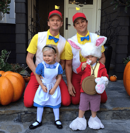 alice in wonderland,costume,halloween,Neil Patrick Harris,family,poorly dressed,g rated