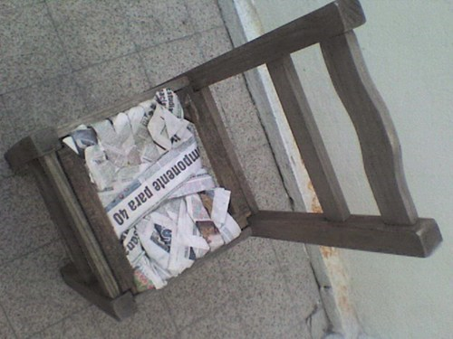 chairs,there I fixed it,newspaper