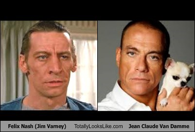 jim varney totally looks like Jean-Claude Van Damme funny