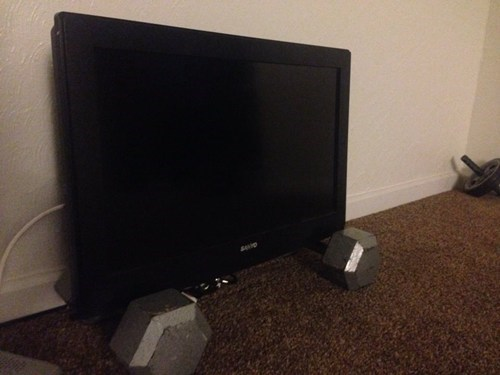 TV,weights,there I fixed it