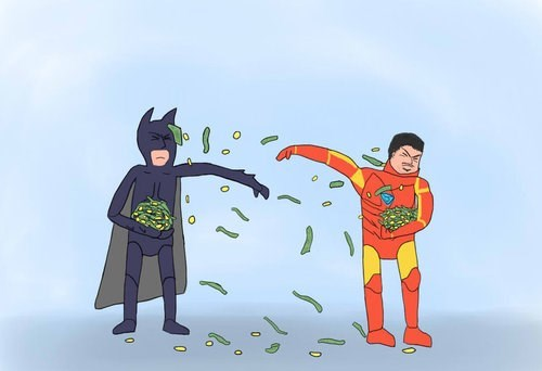 iron man batman money fight - 7863438848