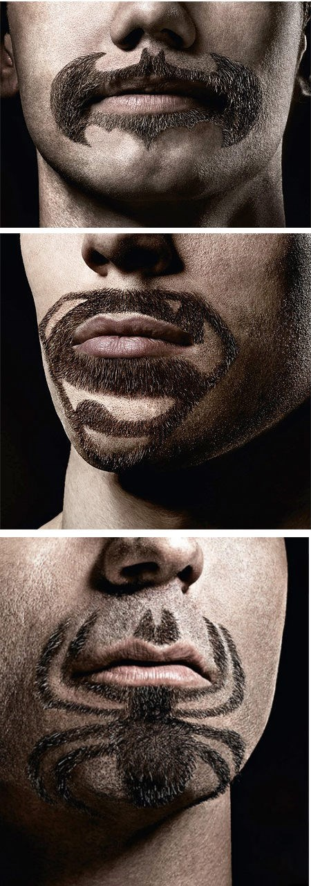logo batman Spider-Man beards superman - 7863442176