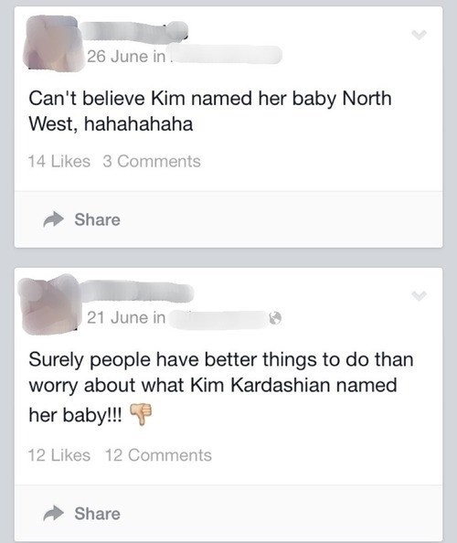 captain obvious,kim kardashian,kanye west,north west