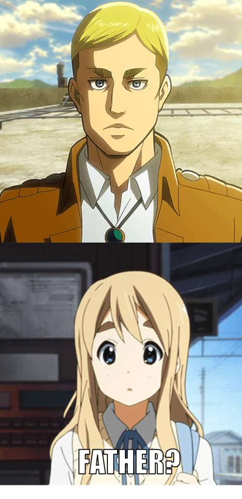 crossover anime attack on titan k-on - 7863492352