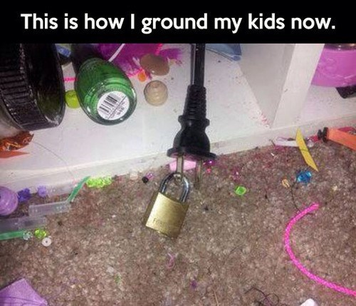 kids electronics parenting grounded