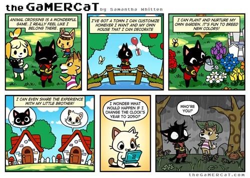 the gamer cat animal crossing web comics - 7863575552