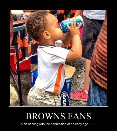 beer kids Browns football funny