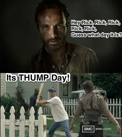 Rick Grimes thump day The Walking Dead - 7863721216