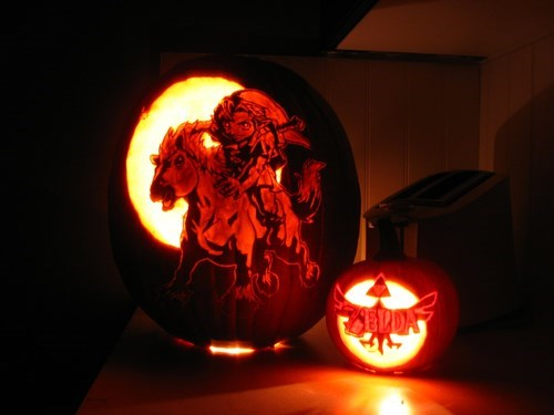 pumpkins,halloween,pumpkin carvings,zelda