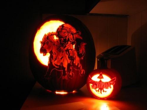 pumpkins halloween pumpkin carvings zelda - 7863758592