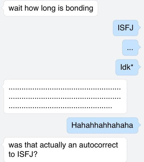 Autocorrect is Big On Personality Tests