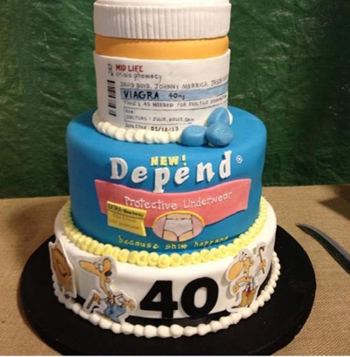 viagra depends birthdays cakes adult diapers - 7863813376