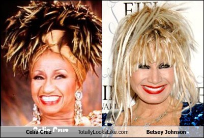 Betsey Johnson,totally looks like,celia cruz,funny