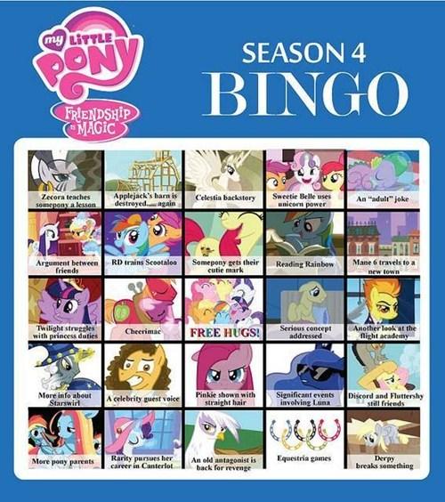 MLP mlp season 4 bingo - 7863924736