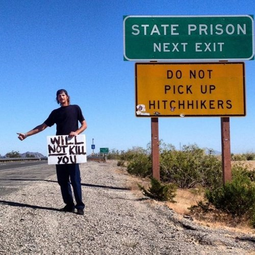 sign,hitchhiking,funny