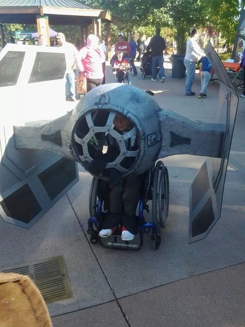 costume,star wars,nerdgasm,wheelchair,funny