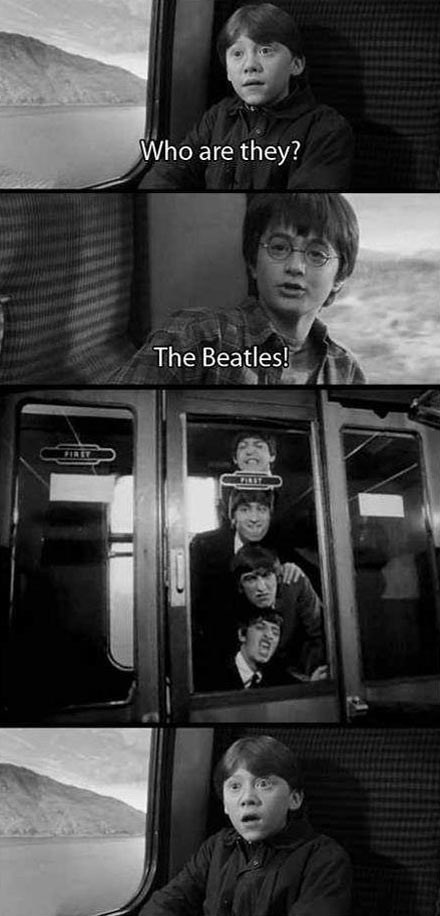 the Beatles crossover Harry Potter - 7864190976