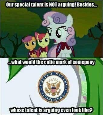 arguing Congress Sweetie Belle cutie mark crusaders - 7864453120