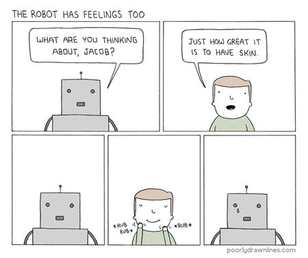 binary robots funny web comics sadness - 7864485888