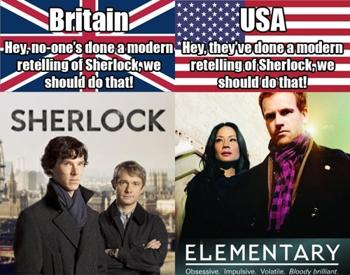 Sherlock american television elementary
