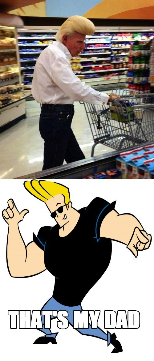hair johnny bravo pompadour cartoons - 7864657408
