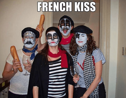 costume pun halloween KISS french kiss french g rated Music - 7864878592