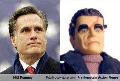 Mitt Romney frankenstein totally looks like funny