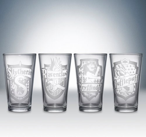 pint glasses nerds Harry Potter awesome Hogwarts - 7865136640