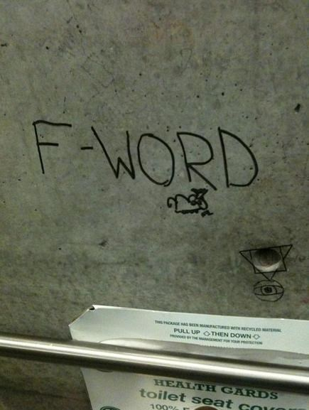 f word,graffiti