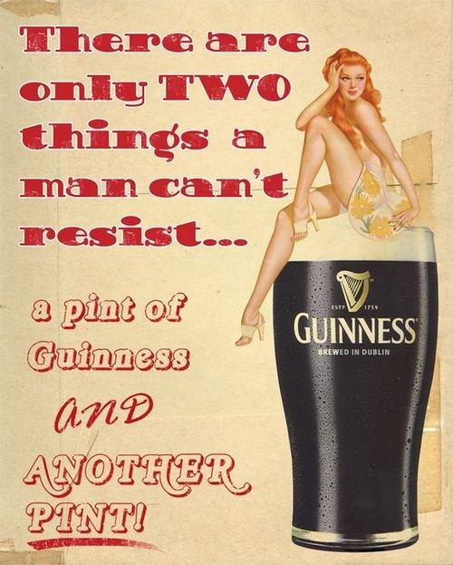 beer ads pint guinness funny after 12 grated