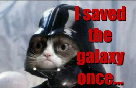 I saved the galaxy once...