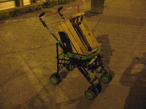 crates,strollers,there I fixed it