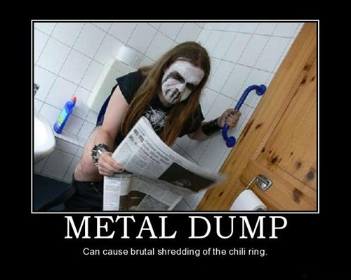 wtf poop chili ring metal head funny