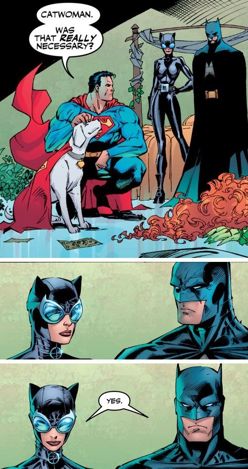 off the page knock out catwoman batman superman - 7865372672