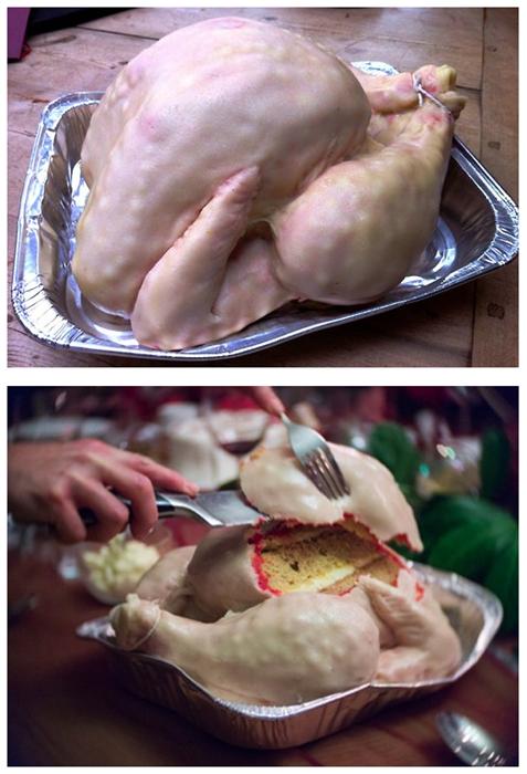 cake thanksgiving Turkey meat - 7865373696