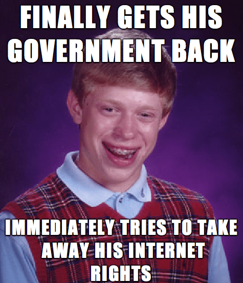 government cispa bad luck brian Memes - 7865405952