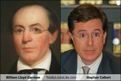 william lloyd garrison stephen colbert totally looks like funny