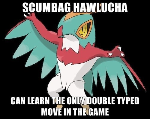 Pokémon hawlucha flying press