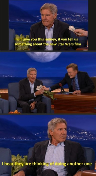 Harrison Ford Loves Free Money