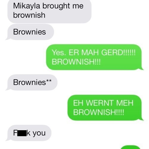 autocorrect text brownies Memes - 7866651392