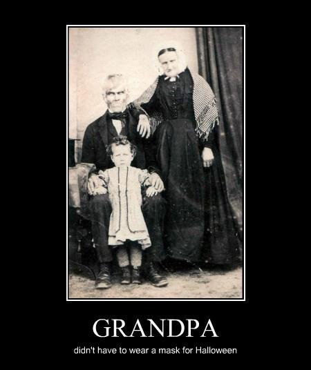 halloween Grandpa funny monster - 7866751744
