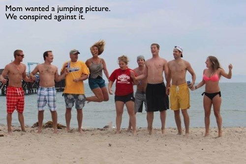 kids moms beach parenting jumping family photos - 7866762752