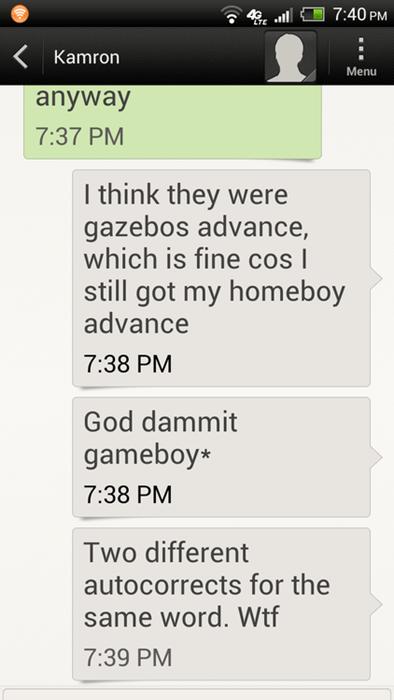 autcorrect text gameboy