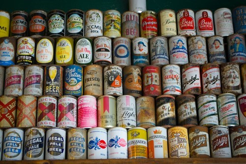beer old school history design cans wall - 7866894336