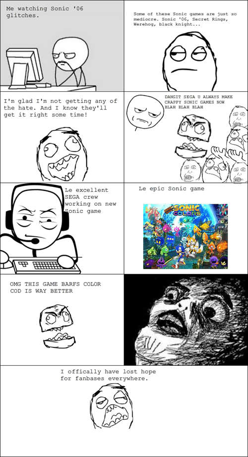 sega,Rage Comics