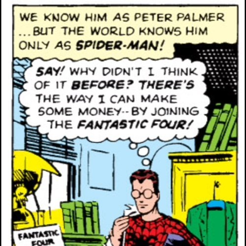 peter parker off the page Spider-Man - 7867320320