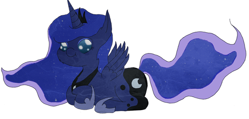nightmare moon Fan Art luna squee - 7867546624