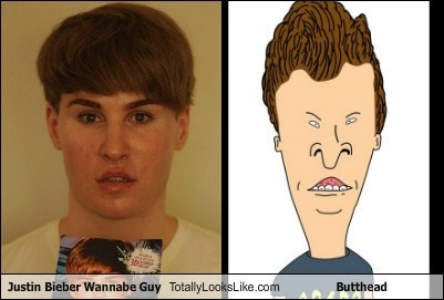 beavis and butthead,plastic surgery,butthead,totally looks like,justin bieber